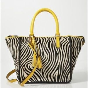 BODEN Palermo Italian Pony Hair Leather Tote NWOT